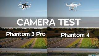DJI Phantom 3 pro vs Phantom 4 SIDE BY SIDE CAMERA TEST