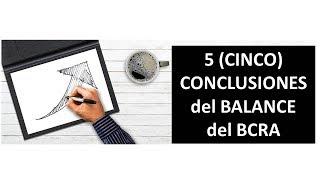 5 (cinco) CONCLUSIONES del Analisis del balance del Banco Central de la Republica Argentina