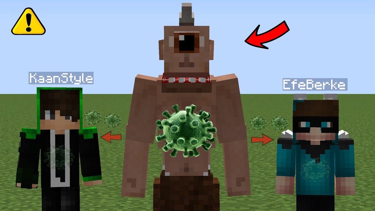 KAAN VE EFEYE TEPEGÖZ VİRÜSÜ BULAŞTI! - Minecraft