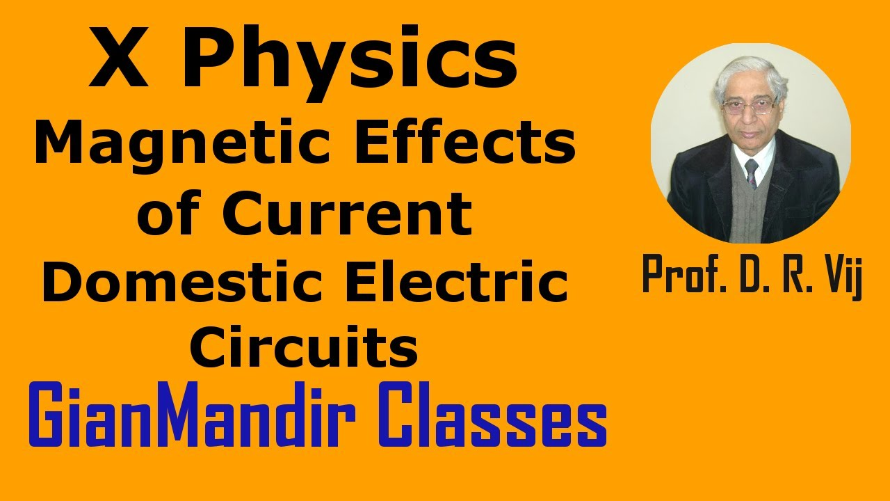 x physics magnetic effects of current domestic electric circuitsx physics magnetic effects of current domestic electric circuits by amrinder sir