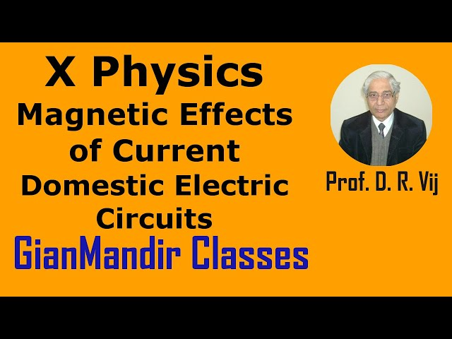X Physics | Magnetic Effects of Current | Domestic Electric Circuits by Amrinder Sir