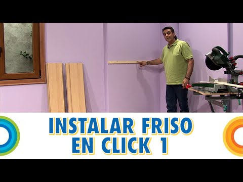 Instalar friso sistema click 1 rastreles bricocrack - Colocar friso en pared sin rastreles ...