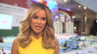 World record for largest cake sculpture attempted in London with Amanda Holden