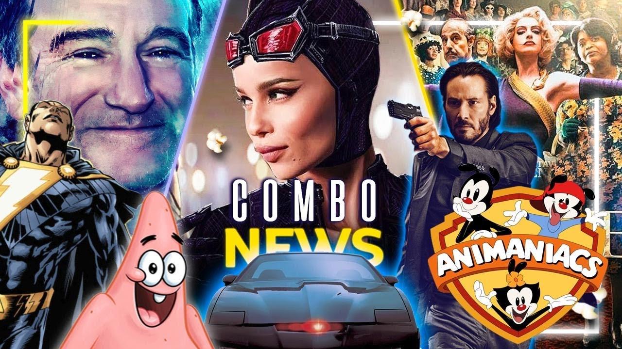 Adiós Dvds, docu RobinWilliams, serie de Gatubela y Patricio, BlackAdam, Animaniacs y más #ComboNews