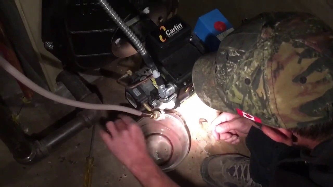 small resolution of oil burner maintenance how to clean a home heating oil boiler youtube