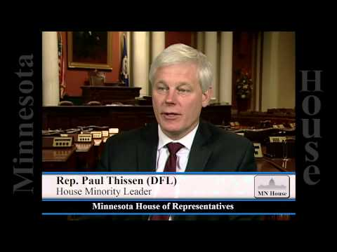 House Minority Leader Paul Thissen (DFL-Mpls) talks about the 2015 legislative session