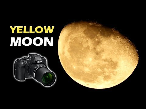 The Yellow Moon on 9th October 2017 - Nikon Coolpix B700 - New Delhi, India