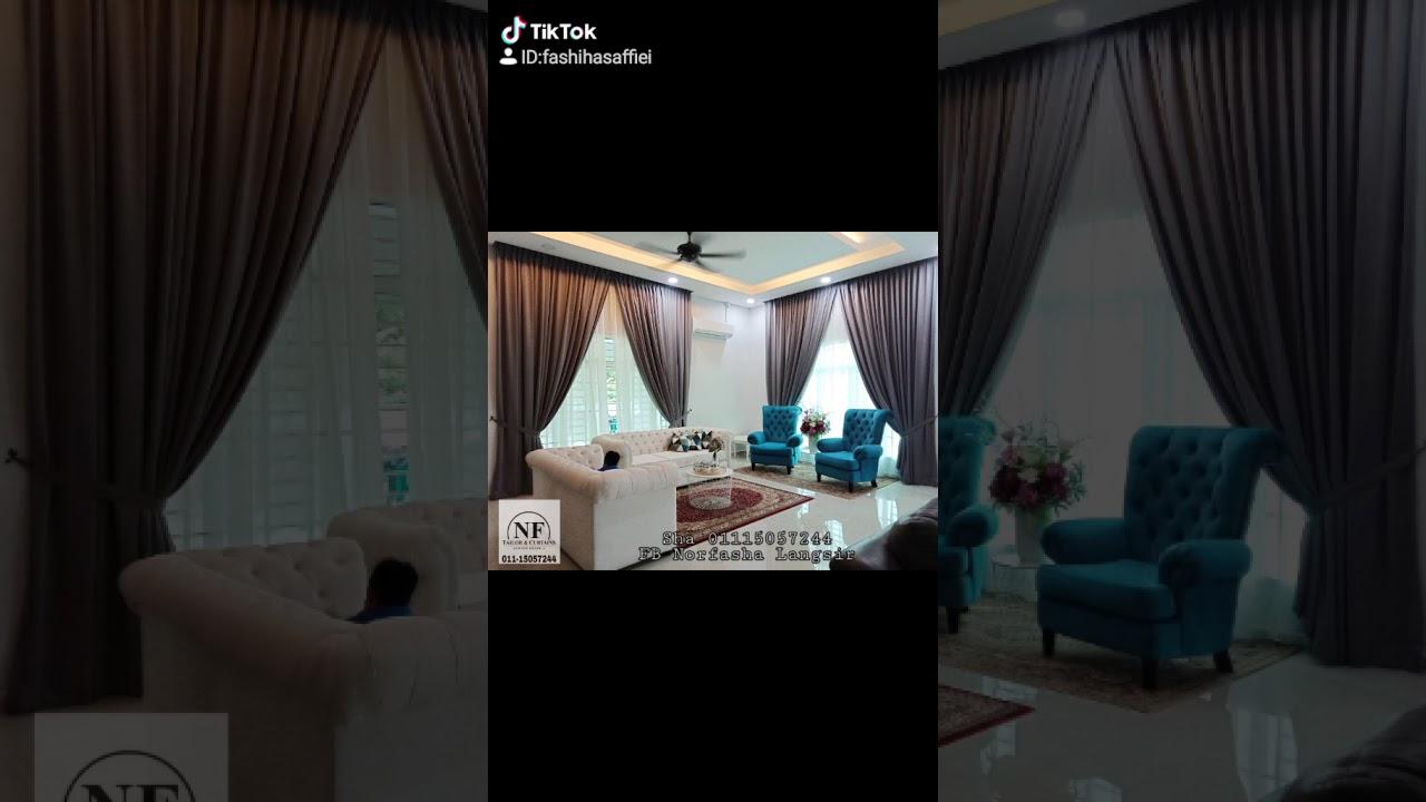 Koleksi Langsir Design Terkini 2019 Dan 2020 Nftc L4v4vi L4v4v4 Youtube