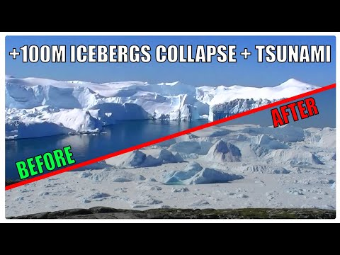 Incredible GLACIER CALVING & TSUNAMI WAVE Caught On Camera! | Glacier Wall Collapse (Greenland)