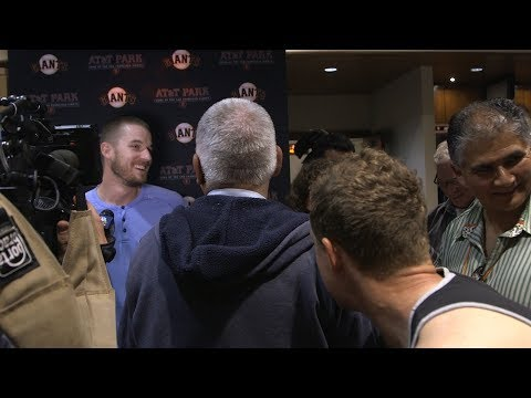 Nick Hundley wanted in on Chris Stratton's postgame media availability