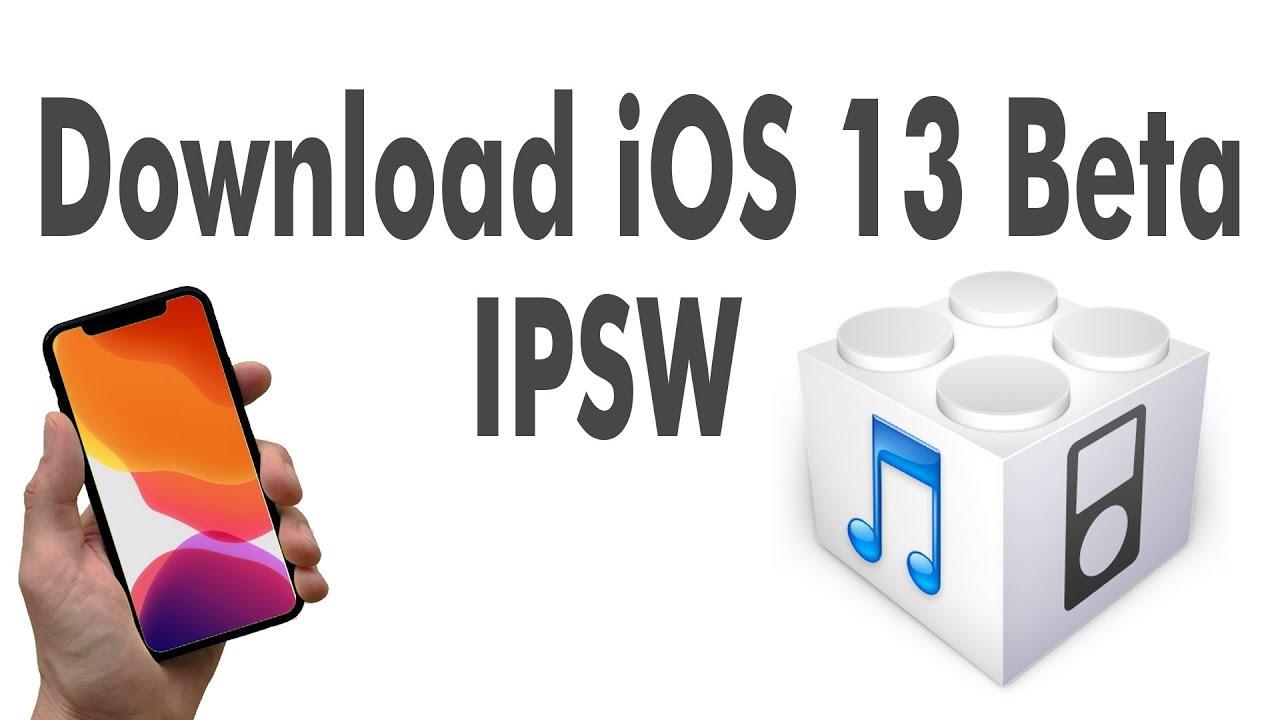 download ios 13 ipsw without developer account