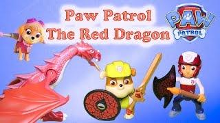PAW PATROL Nickelodeon Paw Patrol Knights & The  Red Dragon a Paw Patrol Toy Video Parody