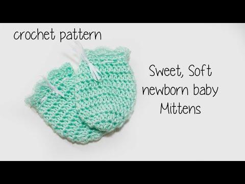 👶🏼 ❄️ Baby Soft Newborn mittens ❄️👶🏼 Crochet tutorial