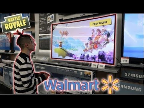 PLAYING FORTNITE BATTLE ROYALE IN WALMART!!