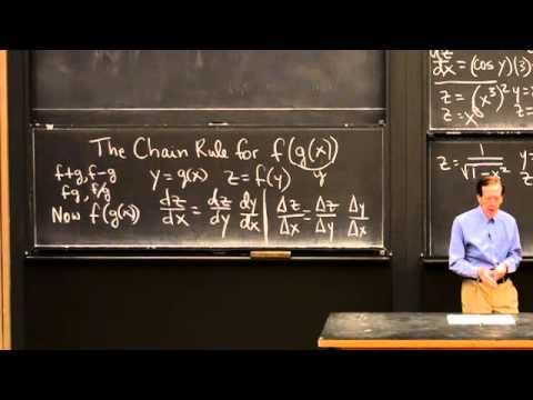 Chains f(g(x)) and the Chain Rule | MIT Highlights of Calculus