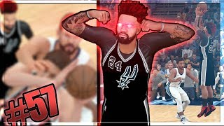 NEAR HALF COURT BUZZER BEATER!! Brother vs Brother Gets Physical! NBA 2k18 MyCAREER Ep. 57