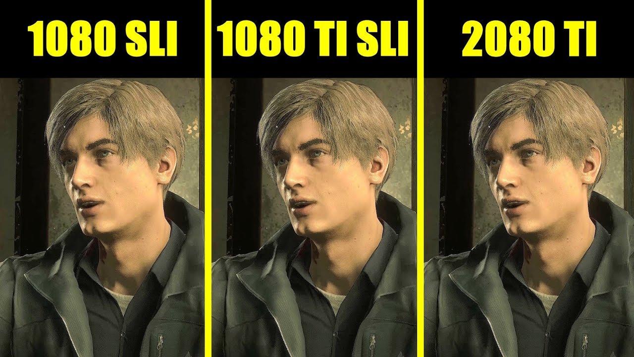 Resident Evil 2 RTX 2080 TI Vs GTX 1080 TI SLI Vs GTX 1080 SLI Comparison