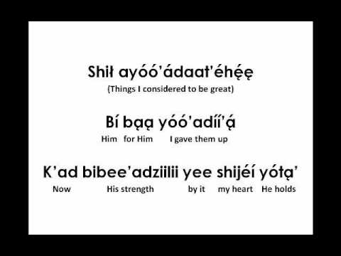 The Lily of the Valley (Lyrics in Navajo)