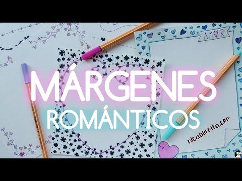 MÁRGENES para PORTADAS de cuaderno y BORDES para CARTAS de amor (Dibujos de San Valentín)