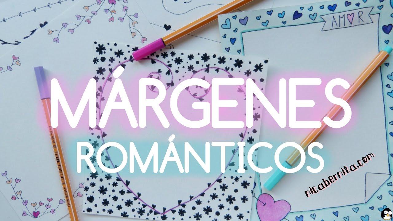 Márgenes Para Portadas De Cuaderno Y Bordes Para Cartas De Amor Dibujos De San Valentín