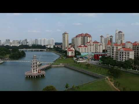 DJI Spark over Singapore National Stadium Waterfront