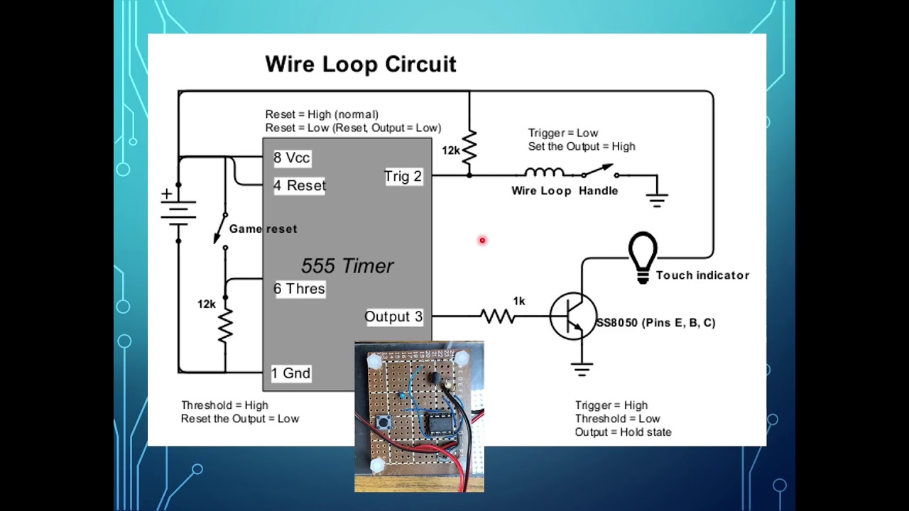 Wire Loop Game Circuit Youtube Electronic Diagram