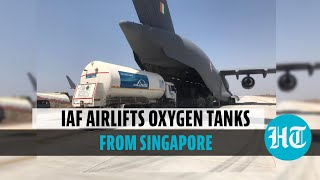 Watch: IAF aircraft with 4 cryogenic oxygen tanks to reach India from Singapore