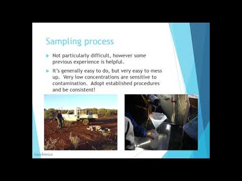 Practical Application Of Hydrogeochemistry In Exploration - Mark Pirlo, Geochimica