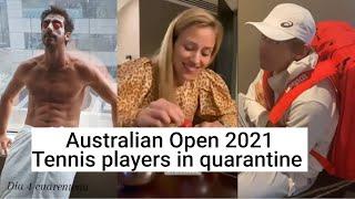 Tennis Players in quarantine - Australian Open 2021