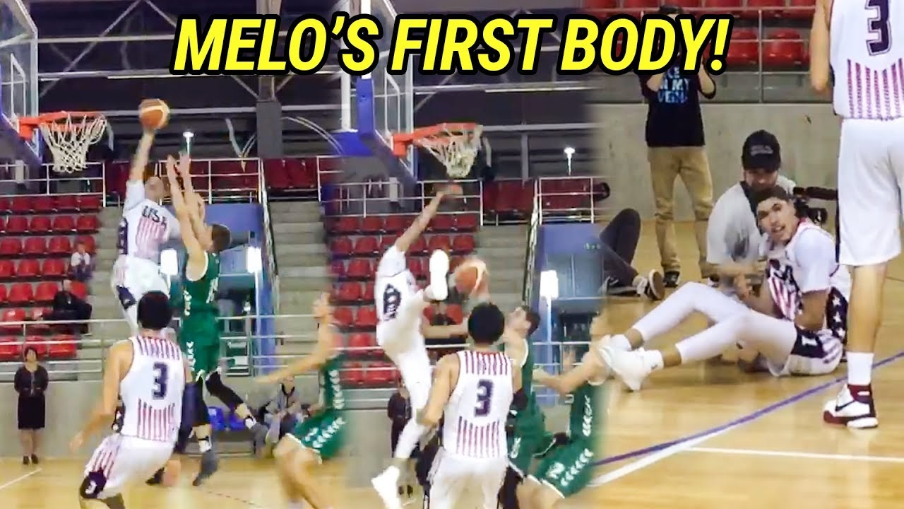lamelo-ball-catches-his-first-poster-takes-over-in-last-game-in-lithuania