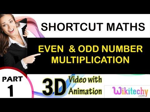 even and odd number multiplication maths class 5 6 7 8 9 10 tricks shortcuts online videos