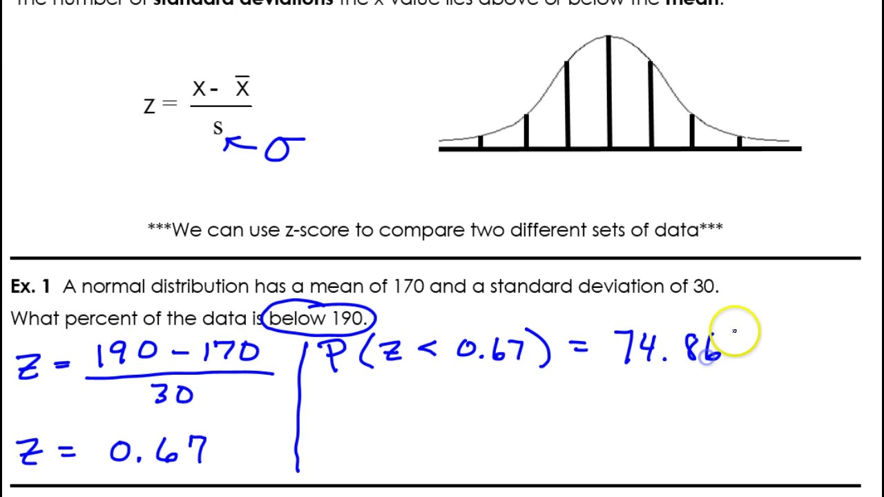 Day 8 Cw #1 To #3 How To Use A Z Score Table To Find Percentages
