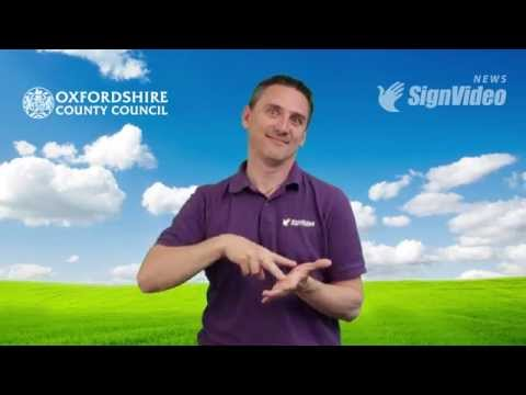 Oxfordshire Sensory Team works together with SignVideo [Click CC for English subtitles]