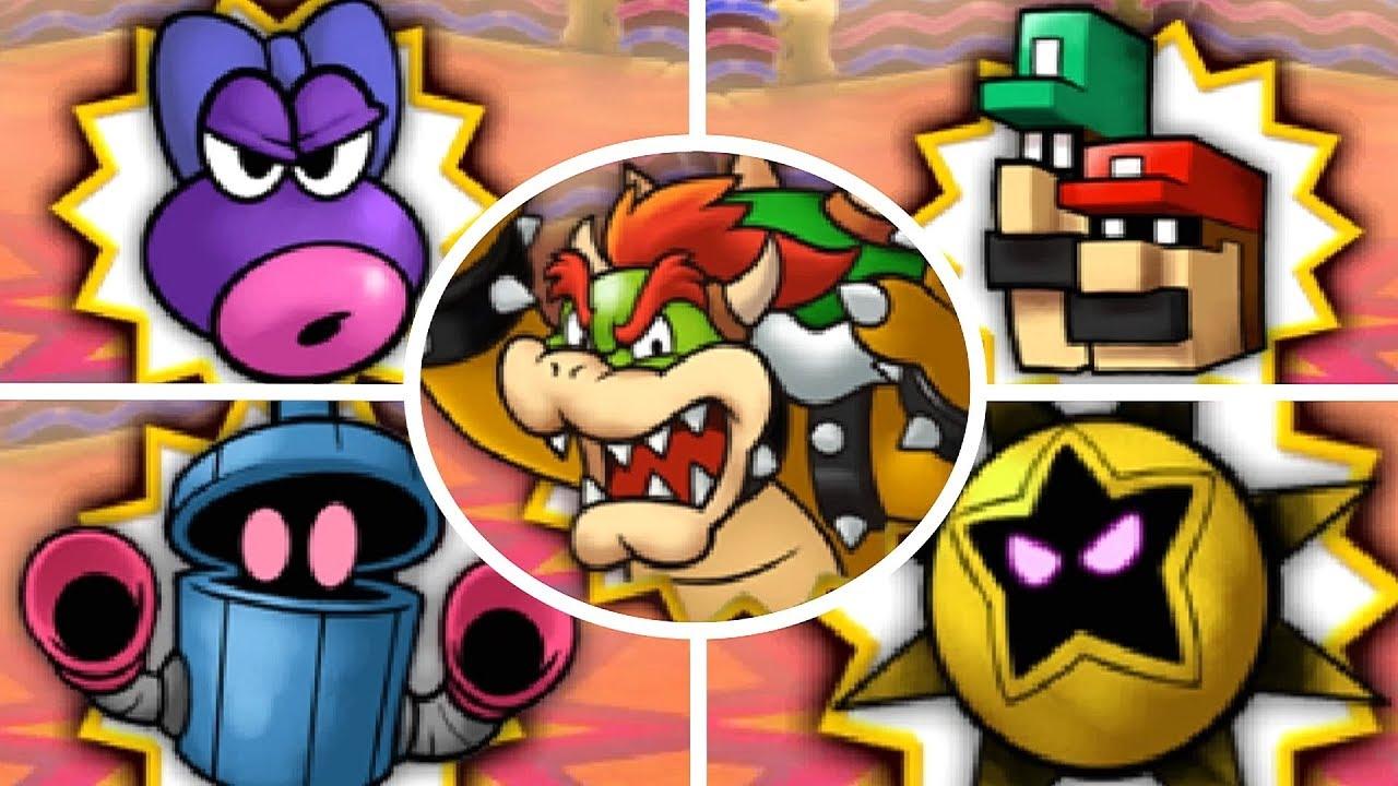 Mario Luigi Bowser S Inside Story 3ds All X Bosses The