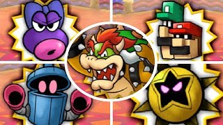 Mario & Luigi: Bowser's Inside Story 3DS - All X Bosses (The Gauntlet)