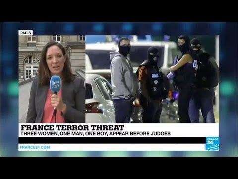 France: 3 women, 1 man and one 15-year-old boy appear before judges over terror plot