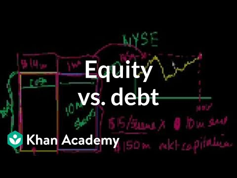 Equity vs. debt | Stocks and bonds | Finance & Capital Markets | Khan Academy