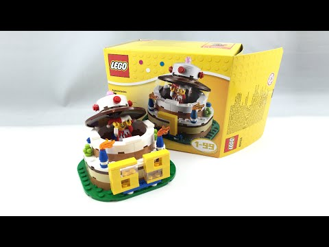 LEGO Birthday Cake set review! 40153
