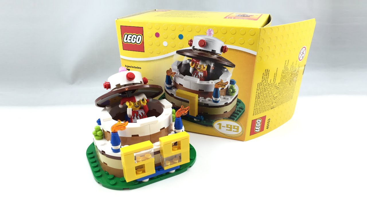 LEGO Birthday Cake Set Review 40153