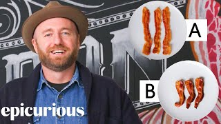 Download Bacon Expert Guesses Cheap vs Expensive Bacon | Price Points | Epicurious Mp3 and Videos