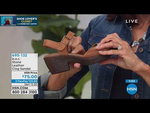 b.o.c. Stone Leather Clog Sandal - YouTube