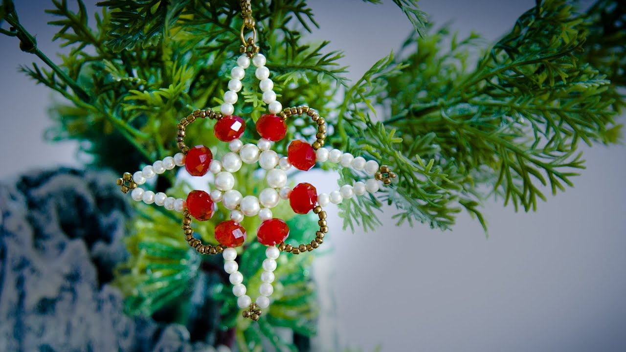 diy christmas ornaments how to make christmas ornaments holiday room decor beads art youtube. Black Bedroom Furniture Sets. Home Design Ideas