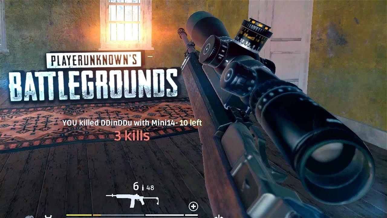 optical supremacy pubg mini 14 15x scope gameplay 60fps youtube