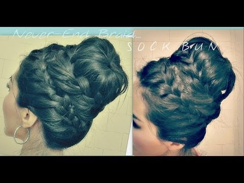 ★cute-hairstyle-|-how-to-never-ending-french-braid-sock-bun-tutorial-for-medium-long-hair-|-updos