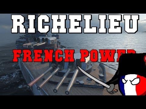Richelieu - 196K DMG full Secondary build | World of Warships