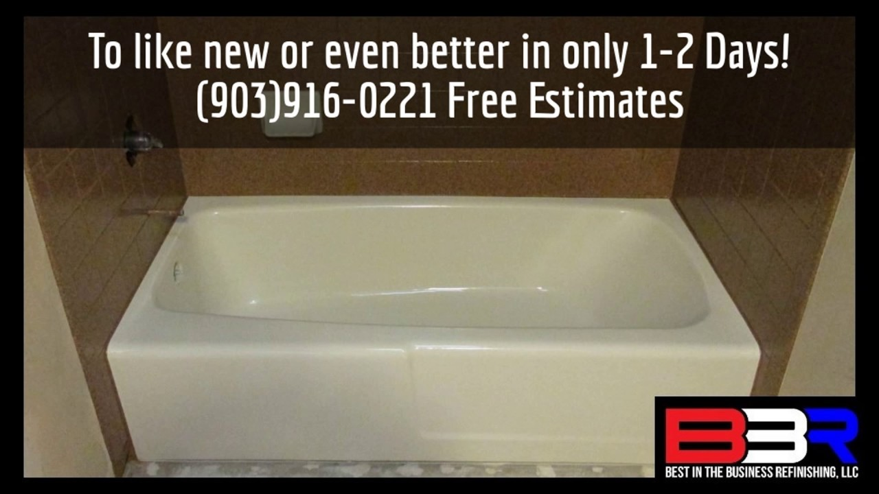 Fiberglass Bathtub Repair in Tyler Texas (903)916-0221 - YouTube