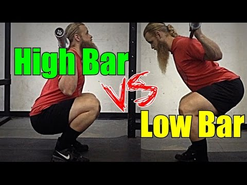 High Bar Squat vs. Low Bar Squat
