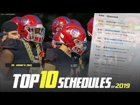 Top 10 Toughest Schedules In High School Football