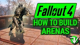 FALLOUT 4 How To Start ARENA BATTLES in Wasteland Workshop DLC Everything About Building Arenas