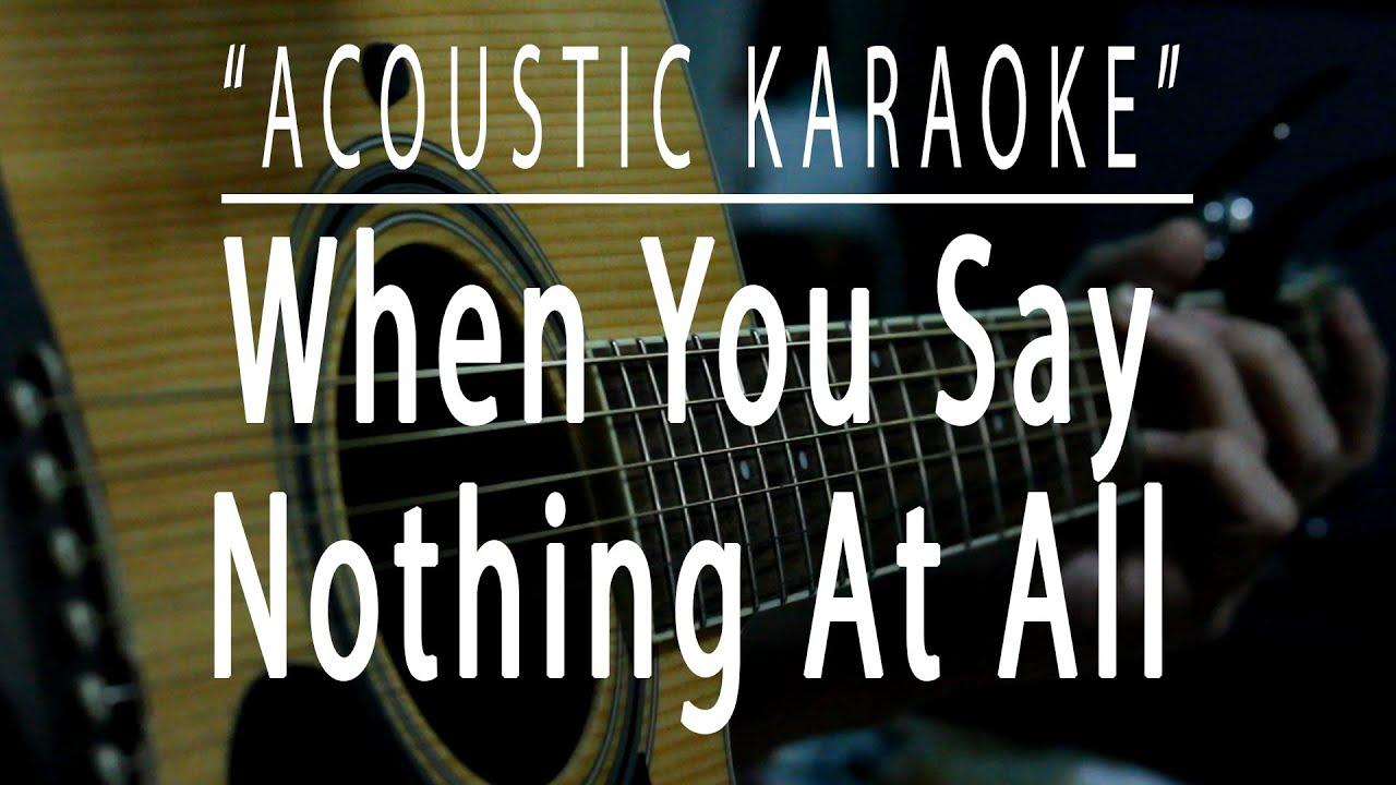 When you say nothing at all - Acoustic karaoke (Ronan Keating)